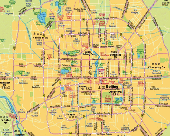beijing training location map